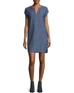 Chambray Denim Dress