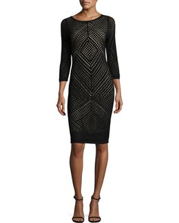 Diamond Lace Sheath Dress