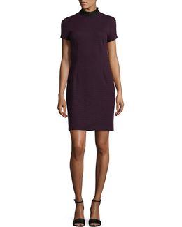 Jaquard Sheath Dress