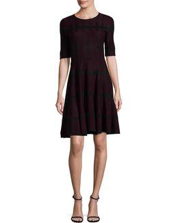 Windowpane Sweater Dress