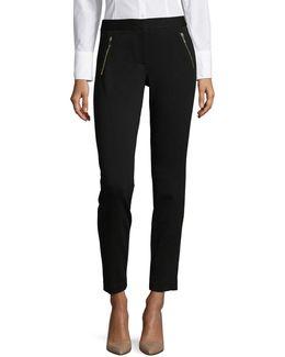Zip Pocket Ponte Pants
