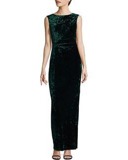 Velvet Column Gown