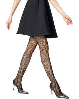 Floral Lace Net Tights