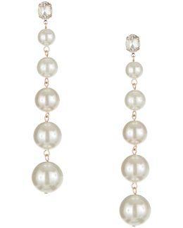 Graduated Faux Pearl Drop Earrings
