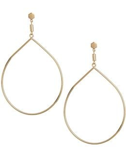 Goldtone Teardrop Earrings