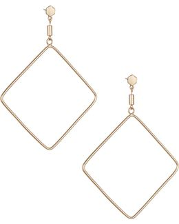 Goldtone Lozenge Earrings