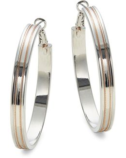 Multitone Hoop Earrings