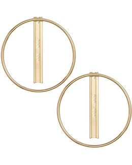 Goldtone Hoop And Post Earrings