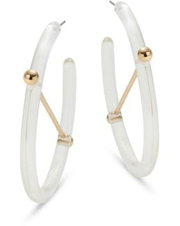 Transparent Half Hoop Earrings