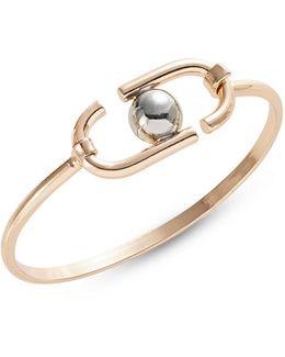 Goldtone Oval Bracelet