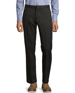 Slim-fit Windowpane Dress Pants