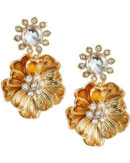 Poppy Goldtone Drop Earrings