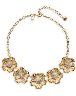 Goldtone Poppy Necklace