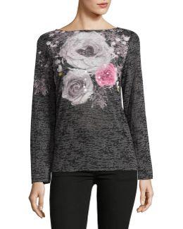 Long Sleeve Floral T-shirt