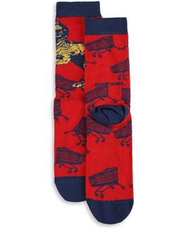 Skm-ray Dinosaur Socks