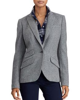 Single-button Tweed Blazer