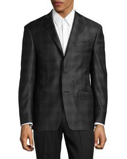 Plaid Wool Sports Jacket