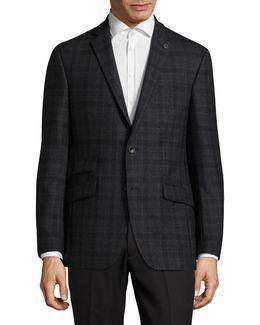 Joey Plaid Wool Suit Jacket