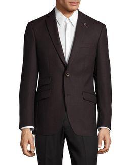 Textured Wool Suit Jacket