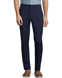 Very Slim Subtle Plaid Dress Pants
