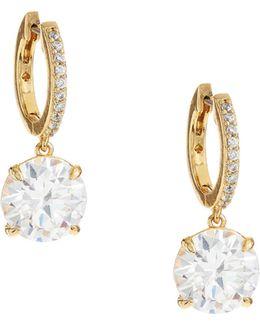 Goldtone Drop Hoop Earrings