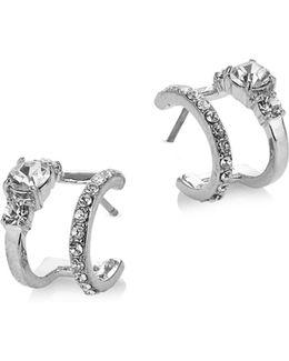 Pave Double Hoop Earrings