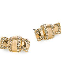 Goldtone Knot Stud Earrings