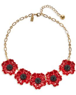 Precious Poppies Statement Necklace