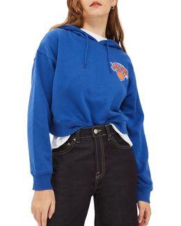 Ny Knicks Crop Hoodie By Unk