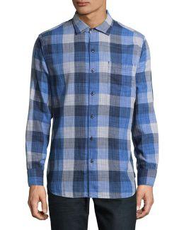 Dual Lux Plaid Sport Shirt