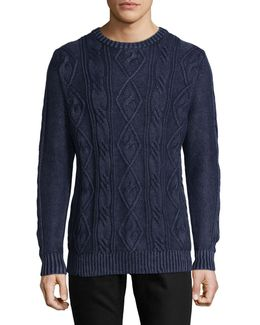 Cable Knit Crew Pullover
