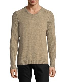 Gran Cable Knit V-neck Sweater