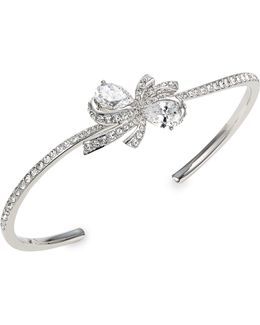 Marion Bow Crystal Cuff Bracelet