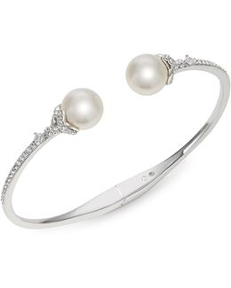 10mm White Pearl Marion Cuff Bracelet
