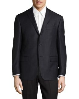 Checked Wool Sports Jacket