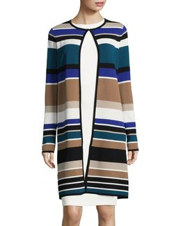 Striped Longline Cardigan