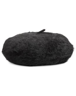 Woven Fuzzy Beret