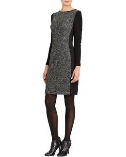 Paneled Knit Sheath Dress