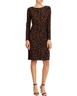 Jersey Ocelot Print Sheath Dress