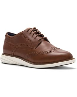 Brogued Leather Derby Shoes