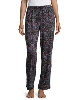 Pima Printed Cotton Pyjama Pants