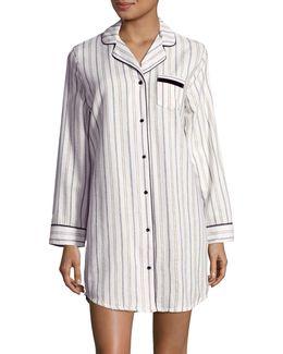Flannel Cotton Sleepshirt