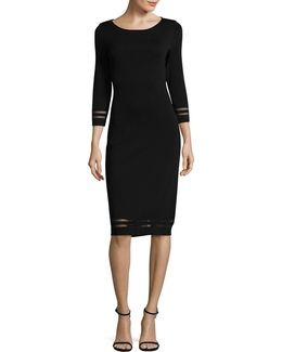 Illusion Mesh Sweater Dress