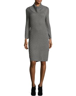 Knit Turtleneck Sweater Dress