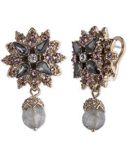 Floral Double Drop Earrings