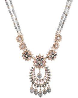 Floral Drama Pendant Necklace