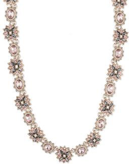 Floral Multi-stone Collar Necklace