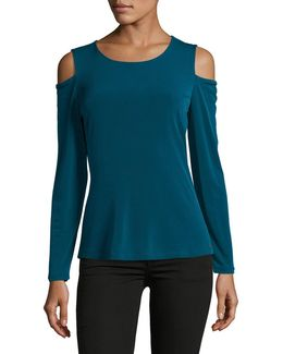 Long Sleeve Cold Shoulder Top