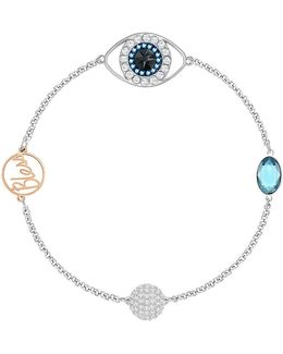 Remix Crystal Eye Symbol Bracelet