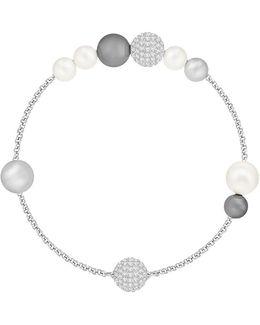 Remix Crystal Faux Pearl Bracelet